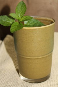 This green smoothie looks brown.