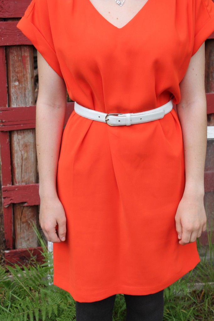 60s style shift orange dress (3)