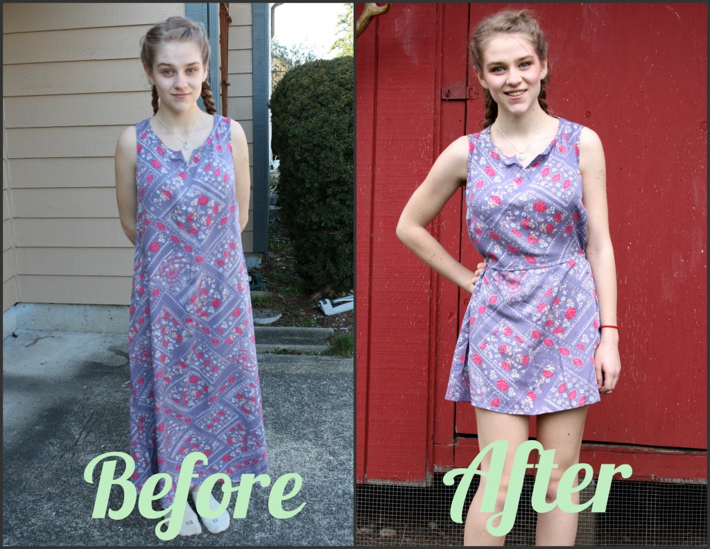 dress before and after