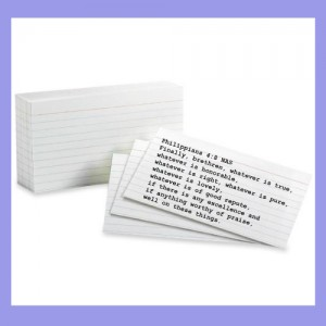 3x5 index cards with scripture