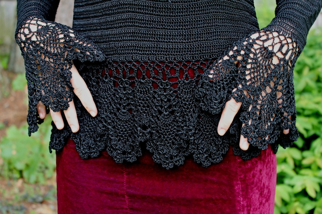 Black crochet top Thrifty Thursday Retro Magic