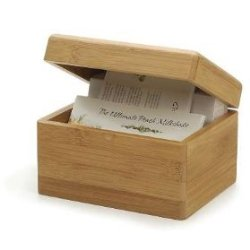 bamboo 3x5 card box