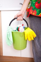 Natural Cleaning Supplies and Methods bucket