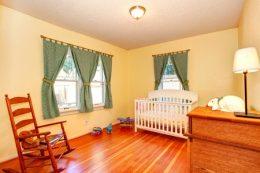 crib rocking chair baby room