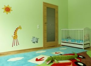 wall decals in baby's room